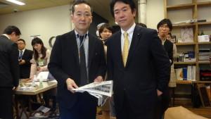 伊藤達也議員にご説明いたしました。